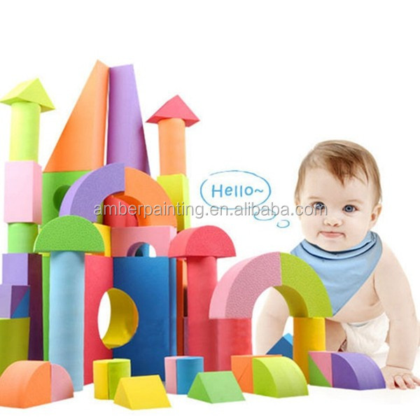 Non toxic custom educational eva foam building blocks for kids