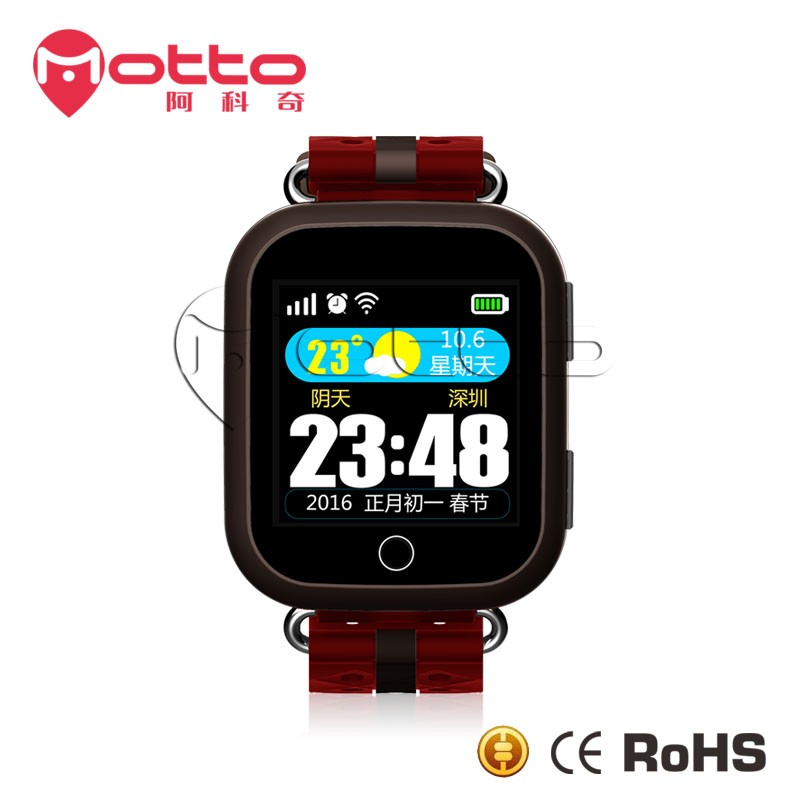 Senior sport quartz hand watch mobile phone price small tracking device for senior
