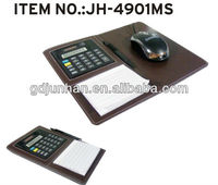 JH3609MS leather mouse pads with memo pad