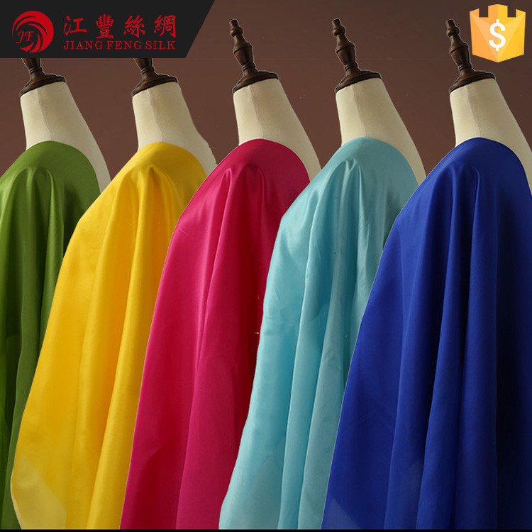 H12 Clothing Material 14M/M Mulberry Silk Fabric Type Names Of Textiles