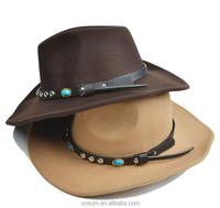 Cheap wholesale natural straw cowboy hat