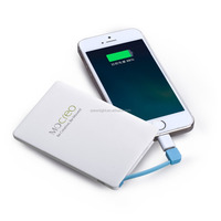 2016 portable business use fast charging power bank battery credit card size can be put power bank into wallet