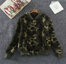 EY0045C New Arrival 2015 Autumn Winter Long Sleeve Slim Fit Plush Patchwork Women Baseball Coat