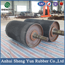 high standard water proof belt conveyor pulley with rubber lagging