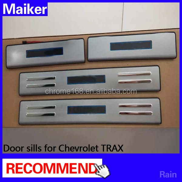 LED Door sills for Chevrolet TRAX Stainless steel door sill scuff plate