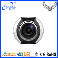 New Arrival 360 Degree Full Viewing H.264 wifi video sport action camera