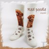 The Dog Series Red poodle young girls tube socks