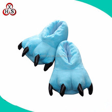 factory cheap soft plush animal feet slippers soft slippers