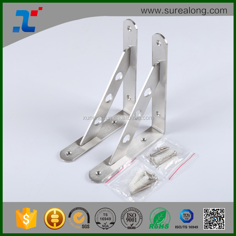 China heavy duty L shaped shelf brackets triangle bracket