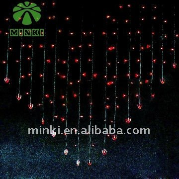MINKI 220v led decorative lights curtain light window chains