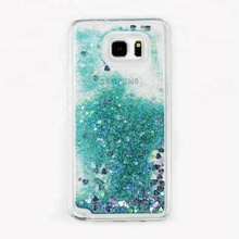 Wholesale Phone Accessories Liquid Quicksand 5 inch Mobile Phone Case for samsung note 5 8 9 for Huawei P10 Lite