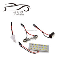 Led Car Dome Light 1210 3528 18SMD Indicator Light Auto T10 Ba9s C5w Bulb 12V 24V DC
