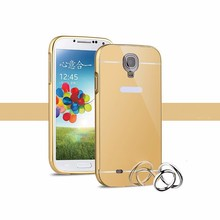 Oem metal bumper mirror cell phone case for samsung galaxy s4