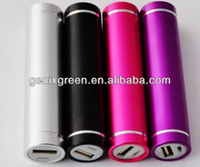 2014 hot selling mobile phone powerbank 2600mah lipstick portable charger colorful power bank for s5,iphone 4/4s,nokia
