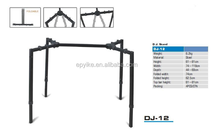 DJ-12 - Professional Multifunction Stand for Keyboard, Mixer, Speaker, Flight case