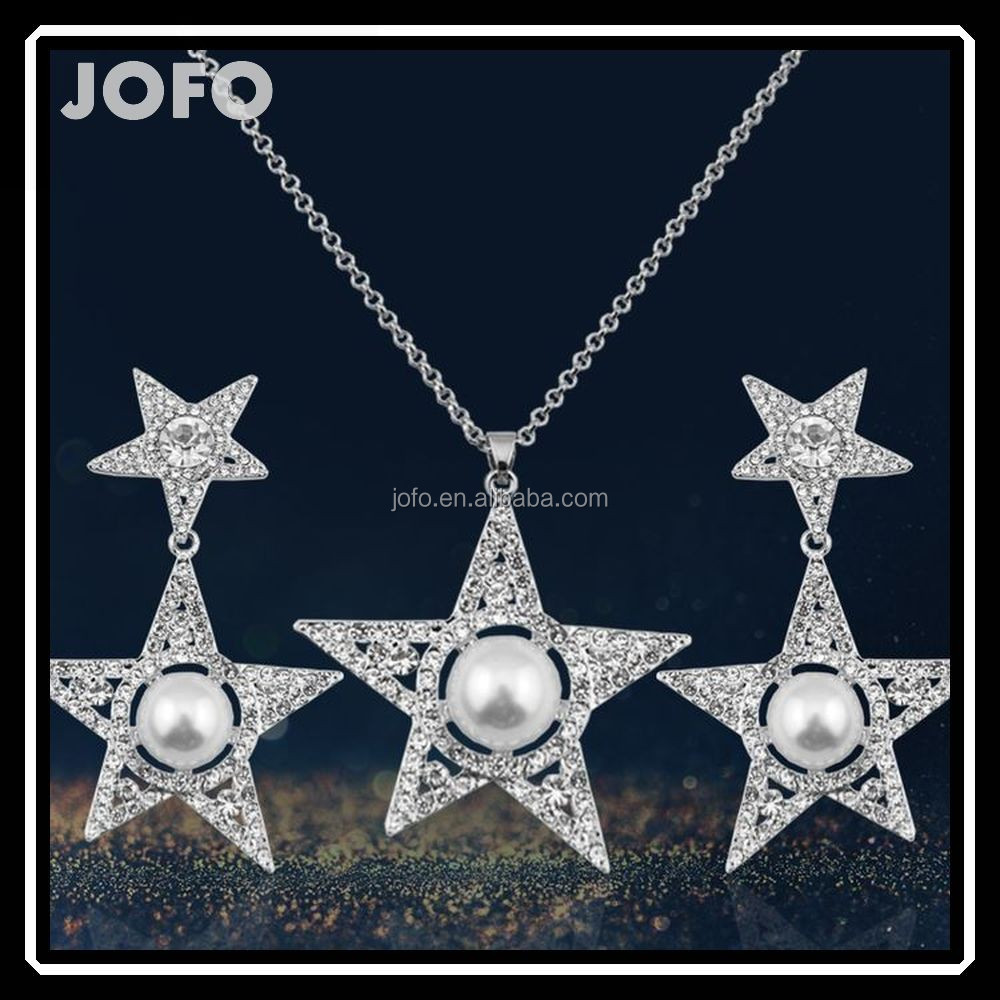 2016 JOFO New Selling Wholesale African Costume Jewelry Set New Star Jewelry Sets