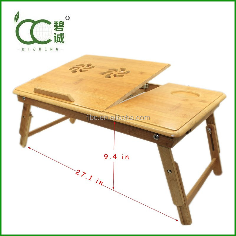 Alibaba Wholesale Portable Laptop Desk/Table Classical Bamboo Foldable Laptop Desk