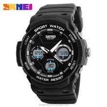 skmei 50m double time display waterproof digital sport wrist watches for unisex