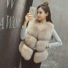 Insta Fashion Women Real Fox Fur Gilet Waistcoat Genuine Fox Fur Vest