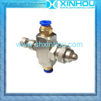 Stainless steel siphon air atomizing spraying air and water spray nozzle