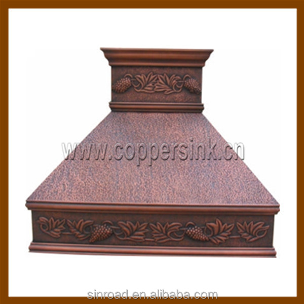 Hammered Copper Kitchen Island Range Hood  Buy Copper Range Hood