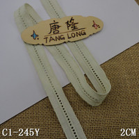 2cm pearl sea green ladder insertion cotton lace trim