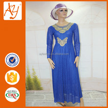 Lastest African fashion muslim long sleeve maxi dress styles
