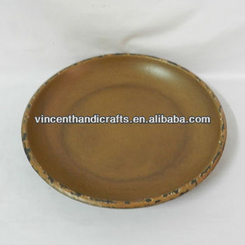 Country distressed MDF candle plate for home decor