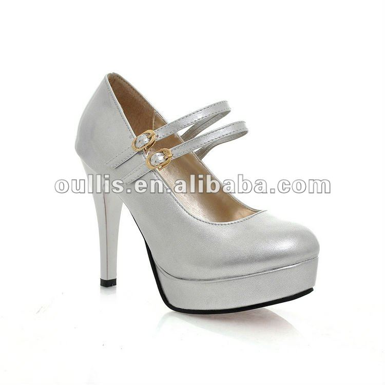 shoes stock club shoes women plastic heel shoes ho-26