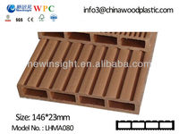 Plastic wood decking, WPC Deck, wood plastic composite Decking with SGS CE FSC ISO