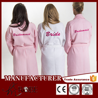Personalised Wedding Day Waffle Bathrobe Dressing Gown, Monogrammed
