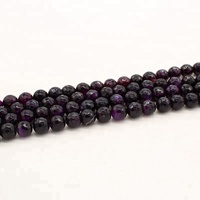 Wholesale round 3 4 6 8 10 12mm, Purple agate stone natural stone faceted agate