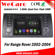 Wecaro WC-LR7018 android 4.4.4 car dvd player for range rover 2002 - 2004 3G wifi playstore