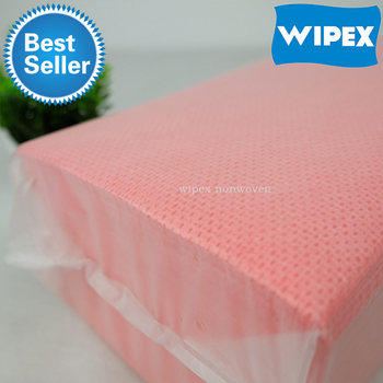China all purpose disposable spunlace nonwoven fabric household handy heavy duty Cleaning Wipe