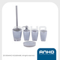 Durable plastic bathroom set