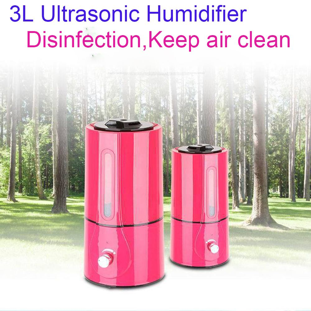 3L Ultrasonic Air Humidifier PInk Essential Oil Diffuser 350ML/h Mist Maker Fogger Household Difusor De Aroma