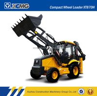 XCMG official original manufacturer XT870H mini tractor with front end loader and backhoe