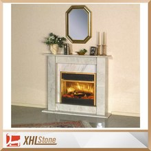 Cheap White Marble Decorative Indoor Fireplace