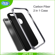 Carbon Fiber Case Frame Protector, Back Cover Phone Case For iphone 7