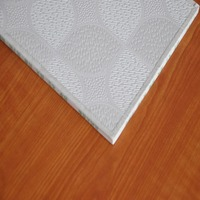 Fireproof pop pvc laminated gypsum ceiling tiles 600x600
