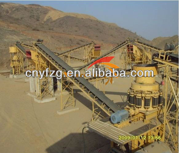 High output copper ore beneficiation crushing plant/magnetite iron ore/gold refining plant