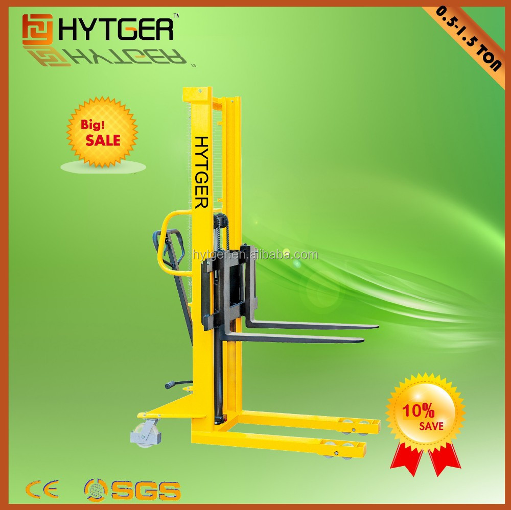 Cheap Price 1500Kg Manual Stacker Hand Pallet Stacker Hand Lift Pallet Jack
