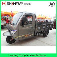 open cargo box with enclosed drivring cabin tricycle cargo tricycle with low price
