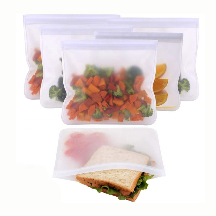 Reusable Storage Bags FDA Food Grade PEVA Ziplock Bags