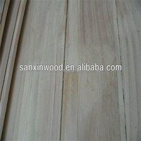 factory price solid wood edge glued paulownia board