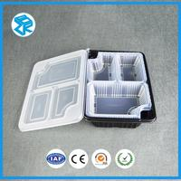 Fresh high temperature plastic meal tray disposable lunch box fast food takeout container