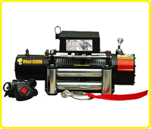 DC 24/12 v tow winch for trucks , remote rugged ridge 8500 winch , heavy duty off road winching