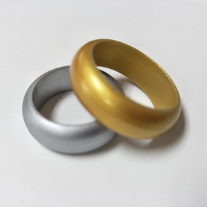 Alibaba Wholesale Jewelry Men Gold Silver Silicone Flexible Band Finger Ring In Stock