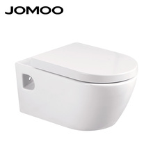 Wall-hung concealed ceramic toilet for hotel bathroom with watermark certification