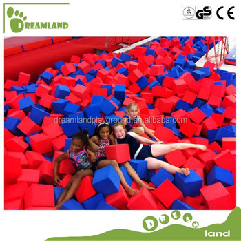 colorful gymnastic foam pit cubes